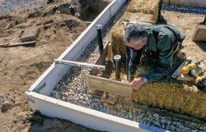 Щебневая подушка под фундамент
