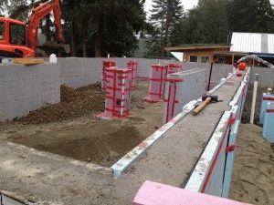 Обустройство бетонной подготовки