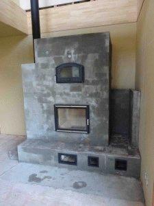 Печь с фундаментом в доме