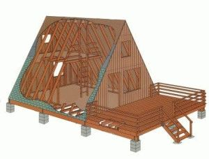 Столбчатый фундамент под каркасный дом