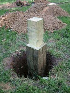 Столб из дерева для фундамента