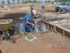 Строительство опалубки для фундамента