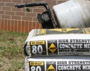 Цемент для замеса бетона
