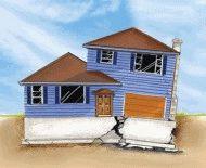 Разрушение фундамента дома