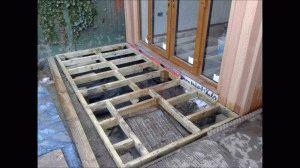 Монтаж деревянного основания