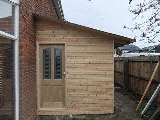 Готовая деревянная пристройка
