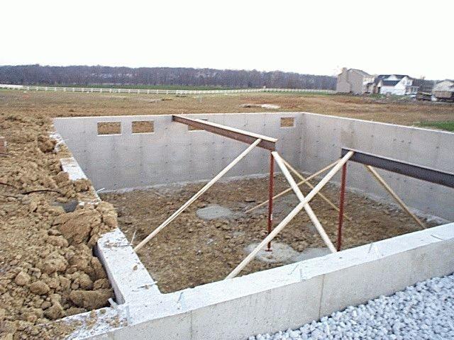 фундамент из газобетонных блоков для дома