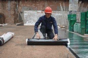 Укладка рубероида на фундамент