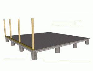 Столбчатый фундамент под бытовку