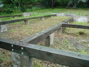 Столбчатый фундамент под сарай
