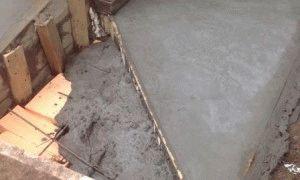 Толстый слой бетона