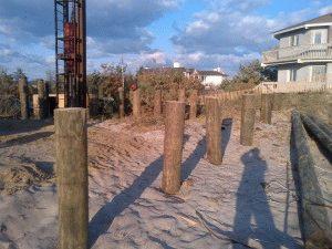 Фундамент на деревянных столбах