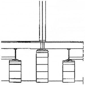 Закладка столбов под фунламент