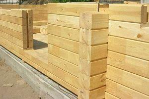 Фундамент и возведение деревянного дома
