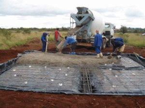 Строительство плитного основания