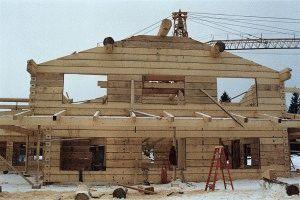 Возведение брусового дома