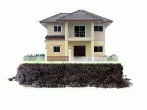 Дом на земле без углубления
