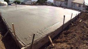 Выровненный бетонный фундамент