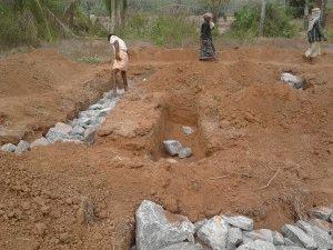 Укладка бутового камня