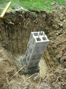 Подготовка к заливке столбов