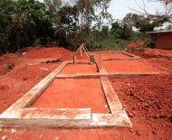 Затвердение бетона после заливки траншеи