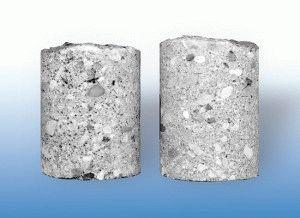 Изменение плотности бетона