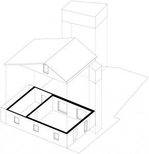 Схема дома с цоколем