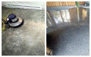 Результат работы с бетоном